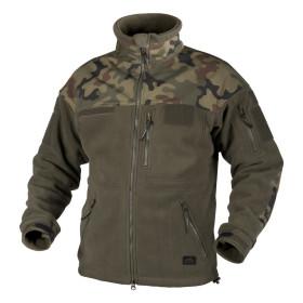 Infantry Fleece Jacket Helikon Black - PL Woodland