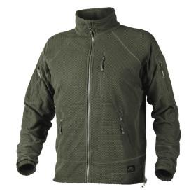 Helikon Alpha Tactical Grid Fleece Jacket - Olive Green