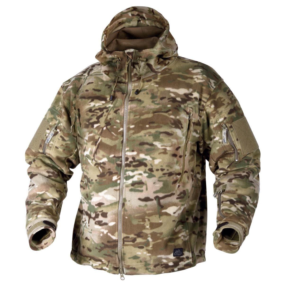 Helikon Tactical Hooded Heavy Fleece Military Combat Polar Jacket Shadow Grey