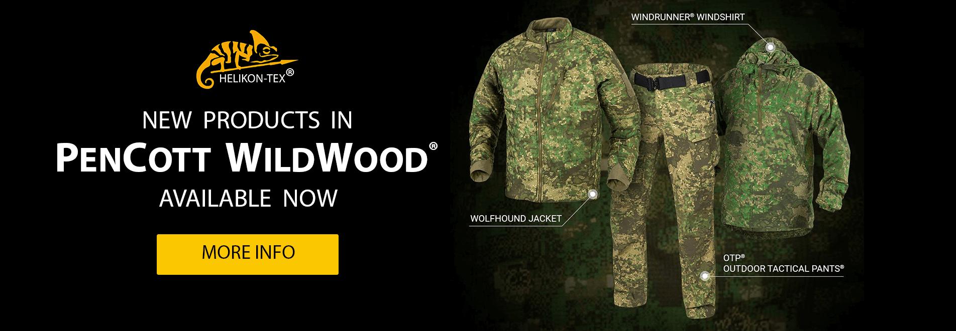 Odzież taktyczna w kamuflażu Pencott Wildwood